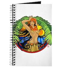Hawaiian Hula Girl Journal