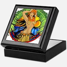Hawaiian Hula Girl Keepsake Box