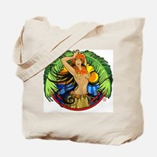 Hawaiian Hula Girl Tote Bag