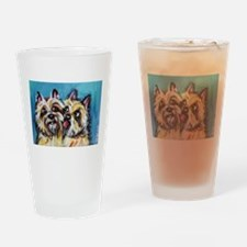 Cairn Terrier Kiss Drinking Glass