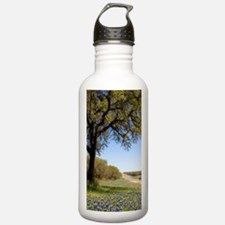 Oak tree and blue bonn Water Bottle