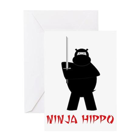 NinjaHippo Greeting Card