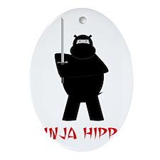 NinjaHippo Oval Ornament