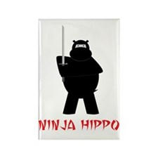 NinjaHippo Rectangle Magnet