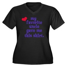 favorite-unc Women's Plus Size Dark V-Neck T-Shirt