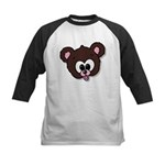 Cute Brown Bear Wild Animal Kids Baseball Jersey