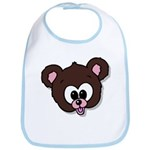 Cute Brown Bear Wild Animal Bib