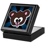 Cute Brown Bear Wild Animal Keepsake Box