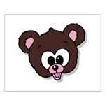 Cute Brown Bear Wild Animal Small Poster
