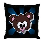 Cute Brown Bear Wild Animal Throw Pillow