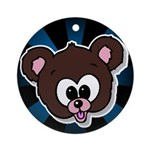 Cute Brown Bear Wild Animal Ornament (Round)