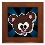 Cute Brown Bear Wild Animal Framed Tile