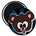 "Cute Brown Bear Wild Animal 2.25"" Magnet (100 pack"