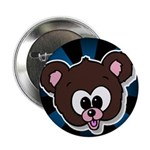 "Cute Brown Bear Wild Animal 2.25"" Button (100 pack"