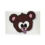 Cute Brown Bear Wild Animal Rectangle Magnet (10 p
