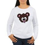 Cute Brown Bear Wild Animal Women's Long Sleeve T-