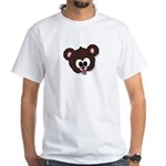 Cute Brown Bear Wild Animal White T-Shirt