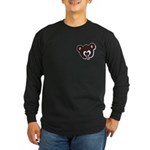 Cute Brown Bear Wild Animal Long Sleeve Dark T-Shi