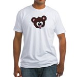 Cute Brown Bear Wild Animal Fitted T-Shirt