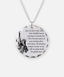 Statue-of-Liberty-quote-(whi Necklace