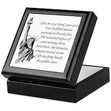 Statue-of-Liberty-quote-(white-shirt) Keepsake Box