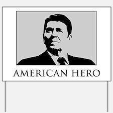 American-Hero-(white-shirt) Yard Sign