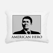 American-Hero-(white-shi Rectangular Canvas Pillow