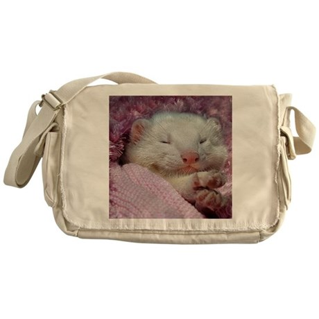 BabyFerret11x11-DBArtPanels1 Messenger Bag