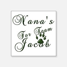 "NanasTeam Jacob green Square Sticker 3"" x 3"""