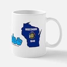 WIstateFlagILYbs Mug