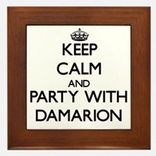 Keep Calm and Party with Damarion Framed Tile