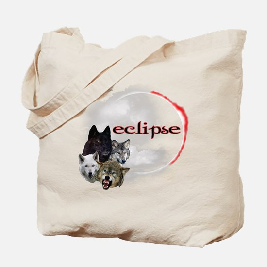 4-Twilight Eclipse Movie  Wolf Pack Moon  Tote Bag