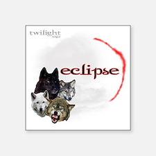 "4-Twilight Eclipse Movie  W Square Sticker 3"" x 3"""