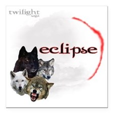 "4-Twilight Eclipse Movie Square Car Magnet 3"" x 3"""