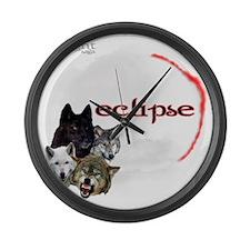 4-Twilight Eclipse Movie  Wolf Pa Large Wall Clock