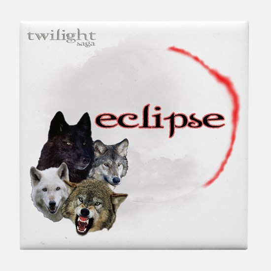 4-Twilight Eclipse Movie  Wolf Pack M Tile Coaster