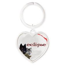 4-Twilight Eclipse Movie  Wolf Pack Heart Keychain