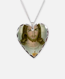 2-jesus Necklace Heart Charm