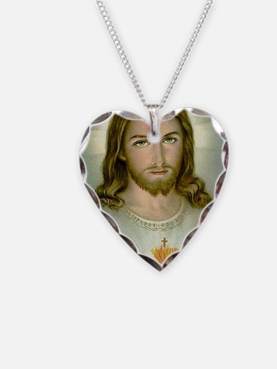 2-jesus Necklace Heart Charm
