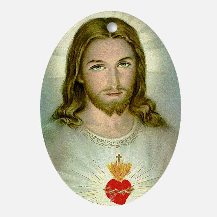 2-jesus Oval Ornament
