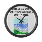 BRIDGE2.png Large Wall Clock