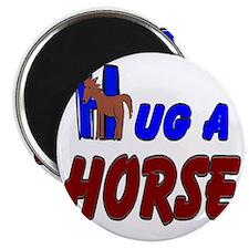 HUG A HORSE LOGO Magnet