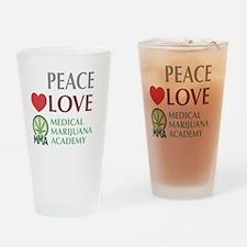 PeaceLoveMMA_Dark Drinking Glass