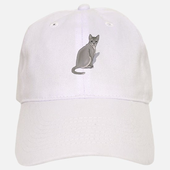 Grey cat Baseball Baseball Cap