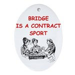 BRIDGE.png Ornament (Oval)