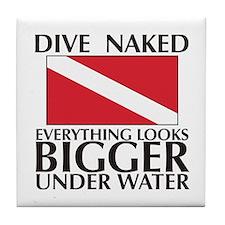 Dive Naked Tile Coaster
