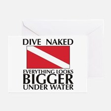 Dive Naked Greeting Cards (Pk of 10)