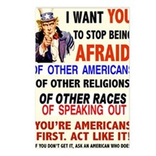 STOP BEING AFRAID Postcards (Package of 8)
