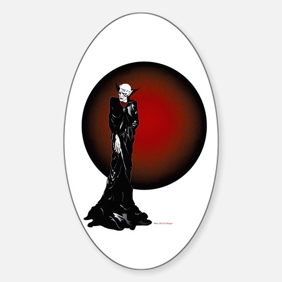 Dark Thoughts Oval Decal