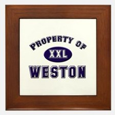 My heart belongs to weston Framed Tile